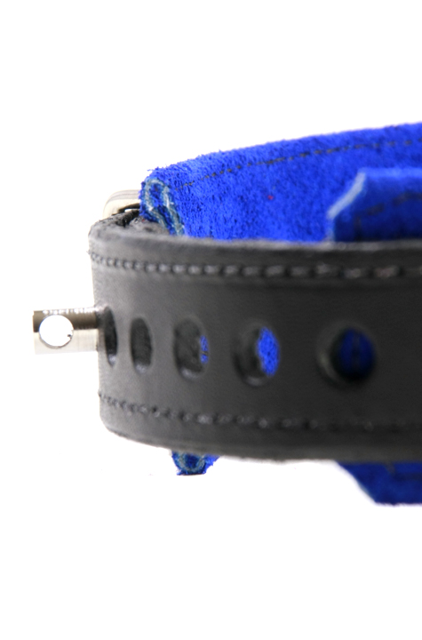 3-D Ring Leather Slave Collar Close Up Attachment