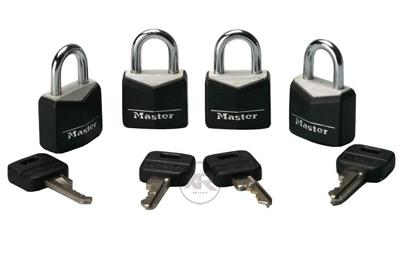 4 Pack Steel Masterlocks