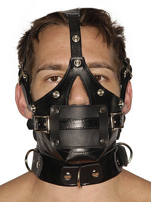 Gag And Blindfold Head Harness The Bdsm Toy Shop