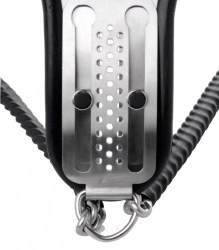 Female Steel Locking Chastity Belt Close Up