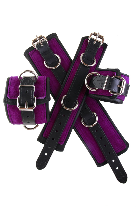 Bondage leather cuffs crypt