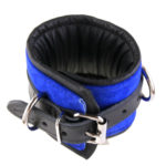 Padded Leather Bondage Cuffs Top View
