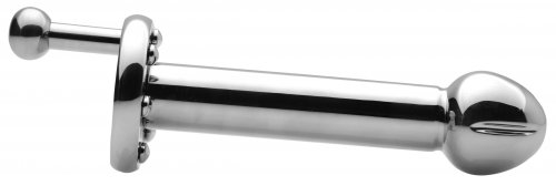 The Spinning Steel Dildo Side View