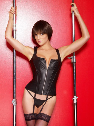 High Back Leather Corset