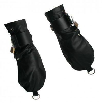 Leather Bondage Mittens