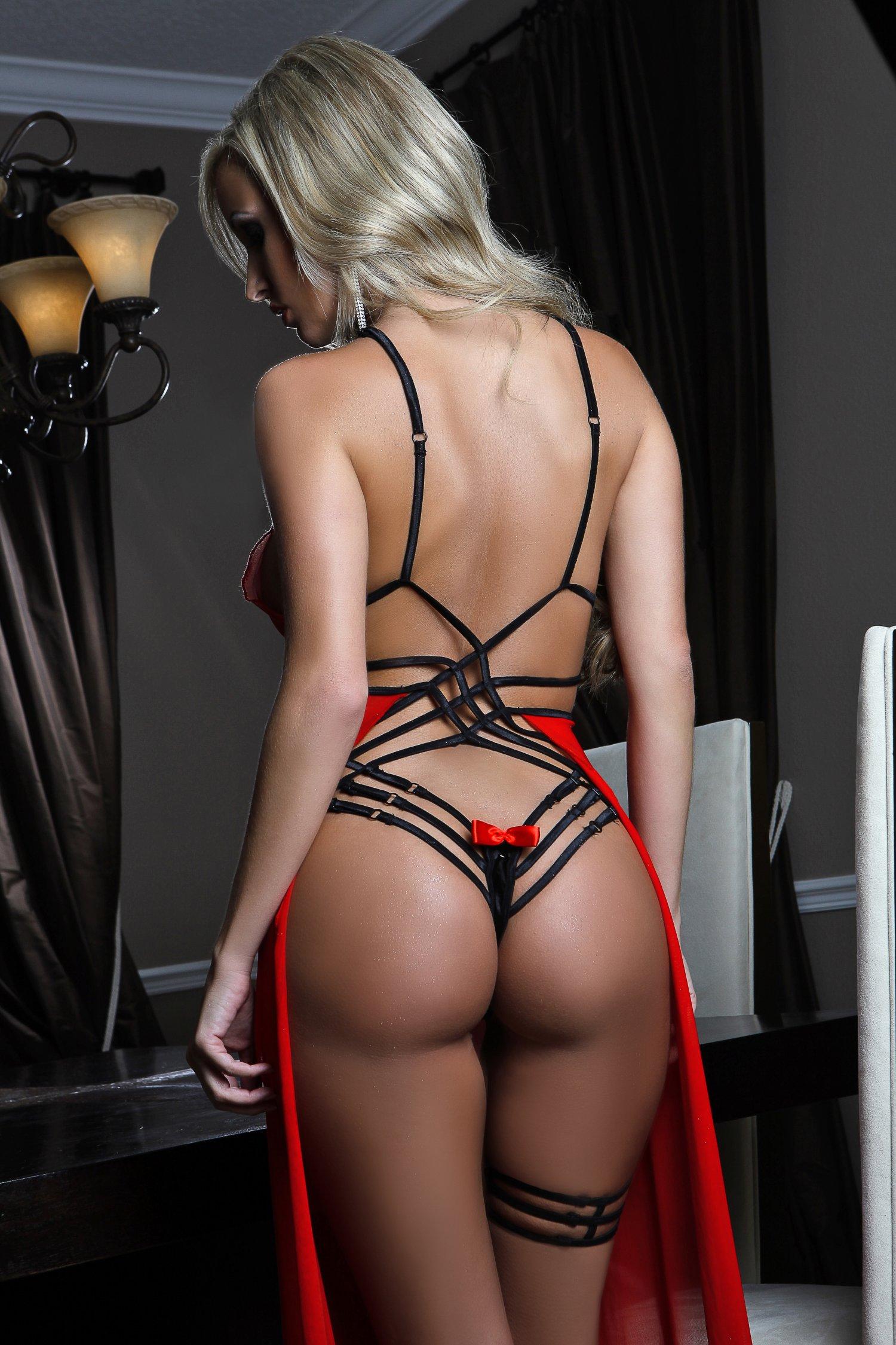 Enhanced Seduction Gown Red Black