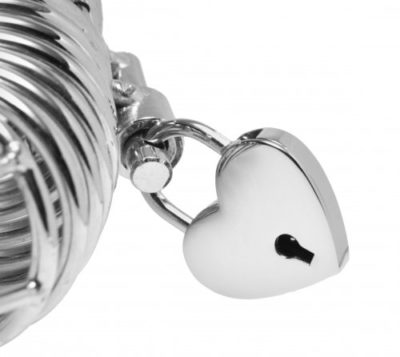 Heart Shaped Padlock Close Up