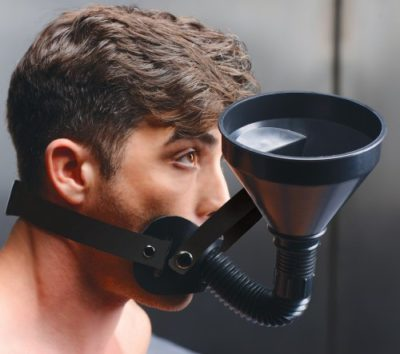 funnel gag with model side view