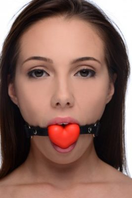 heart in your mouth gag with model