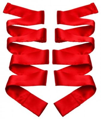 Scarlet Satin Sash Set