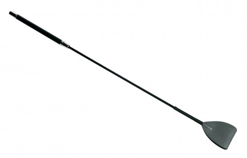 Shadow Grey Leather Riding Crop