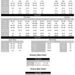 EM size charts