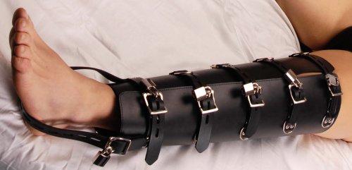 Leather Leg Binders Close Up