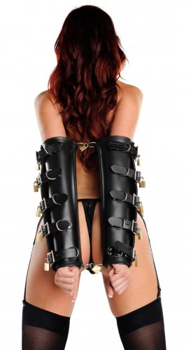 Locking Leather Arm Binders Back View