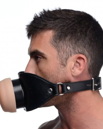 Pussy Face Mouth Gag Male Model