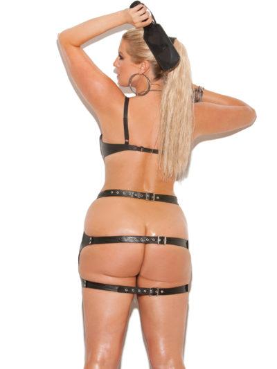 Leather Spanking Skirt X Back