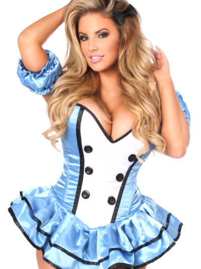 Alice Premium Corset Dress Costume Close Up
