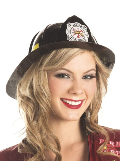 Black Fire Fighter's Hat