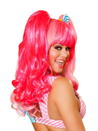 Candy Pink Wig Back