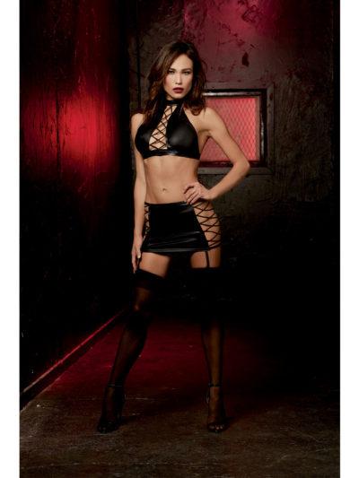 Collared Halter Top & Skirt
