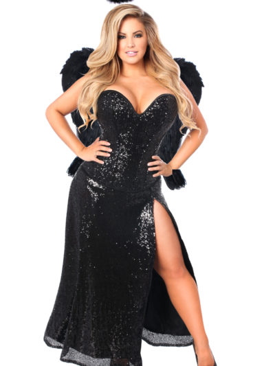 Dark Angel Premium Corset Costume