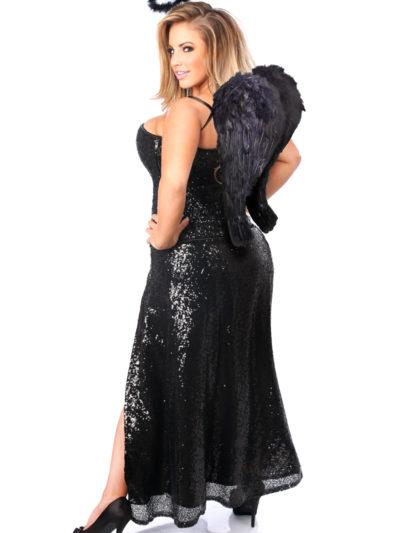 Dark Angel Premium Corset Costume Back