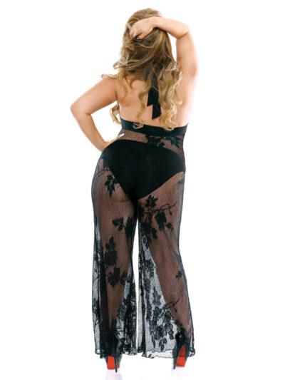 Elegant Lace Halter Jumpsuit Back
