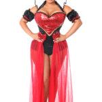 Fairytale Red Queen Premium Corset Costume X