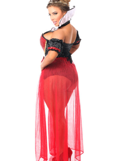 Fairytale Red Queen Premium Corset Costume X Back
