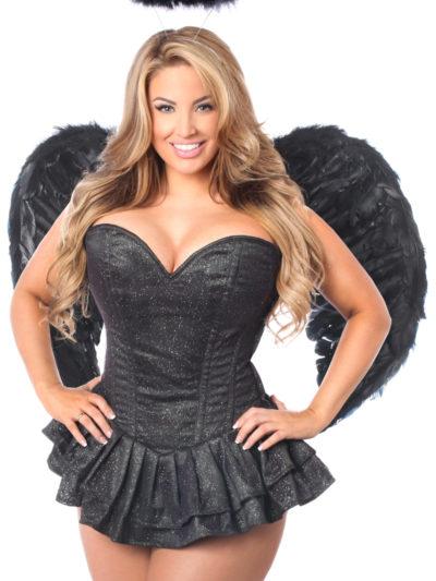 Glitter Dark Angel Premium Corset Dress Costume