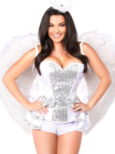 Innocent Angel Premium Corset Costume Close Up