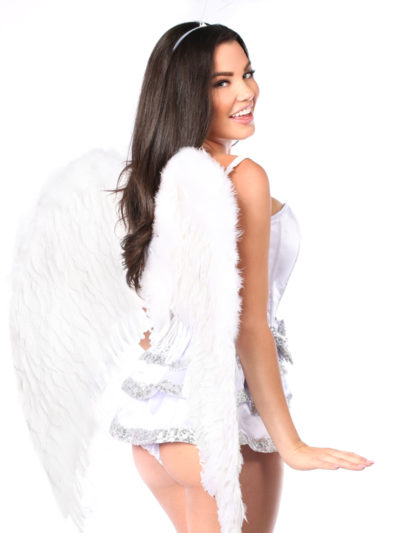 Innocent Angel Premium Corset Costume Close Up Back