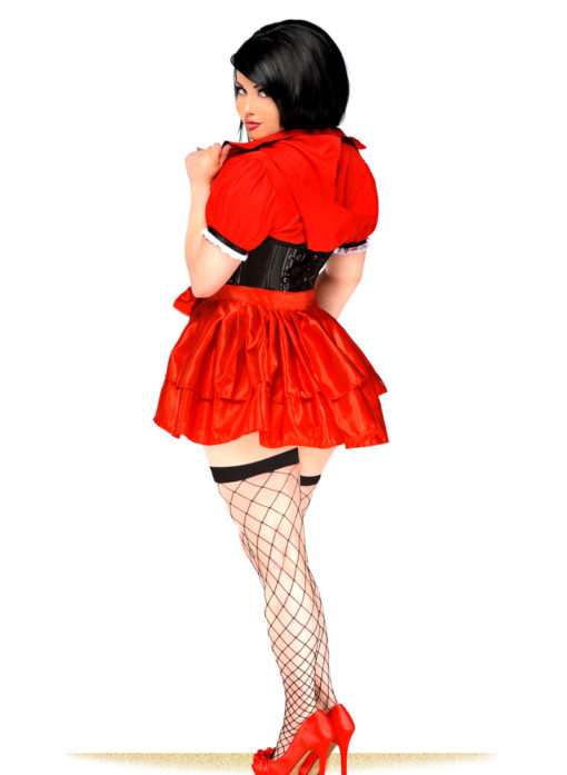 Lil Red Riding Hood Premium Corset Costume Back