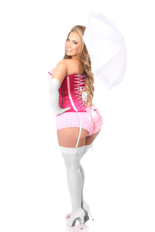 Pink Princess Premium Corset Costume Back