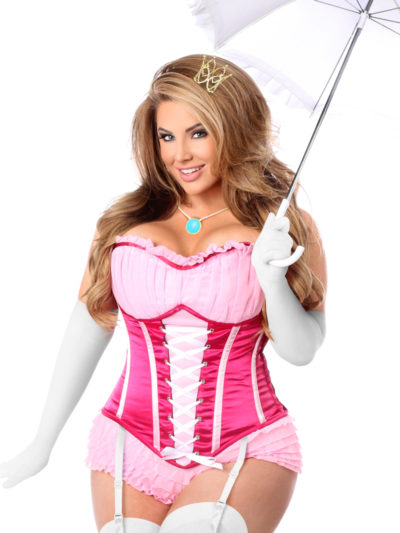 Pink Princess Premium Corset Costume Close Up