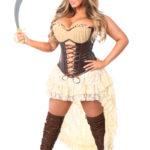 Pirate Damsel Premium Corset Costume