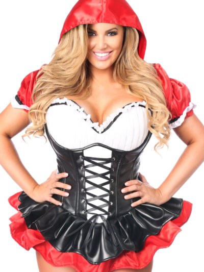 Red Riding Hood Corset Dress Costume Close Up