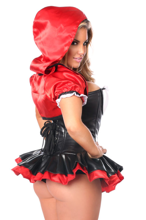 Red Riding Hood Corset Dress Costume Close Up Back
