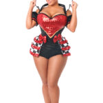 Royal Red Queen Premium Corset Costume Solo