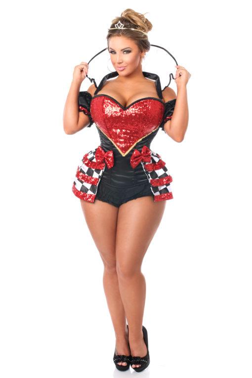 Royal Red Queen Premium Corset Costume Solo