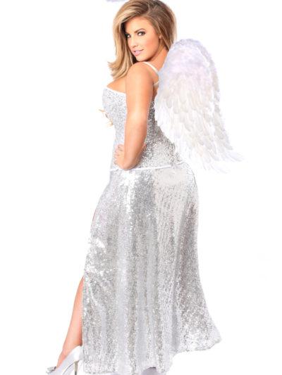Sequin Angel Corset Costume Back