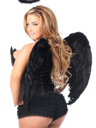 Sequin Dark Angel Premium Corset Costume Close Up Back