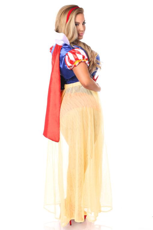 Snow Princess Corset Costume Queen Back