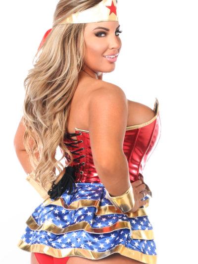 Superhero Premium Corset Costume Close Up Back