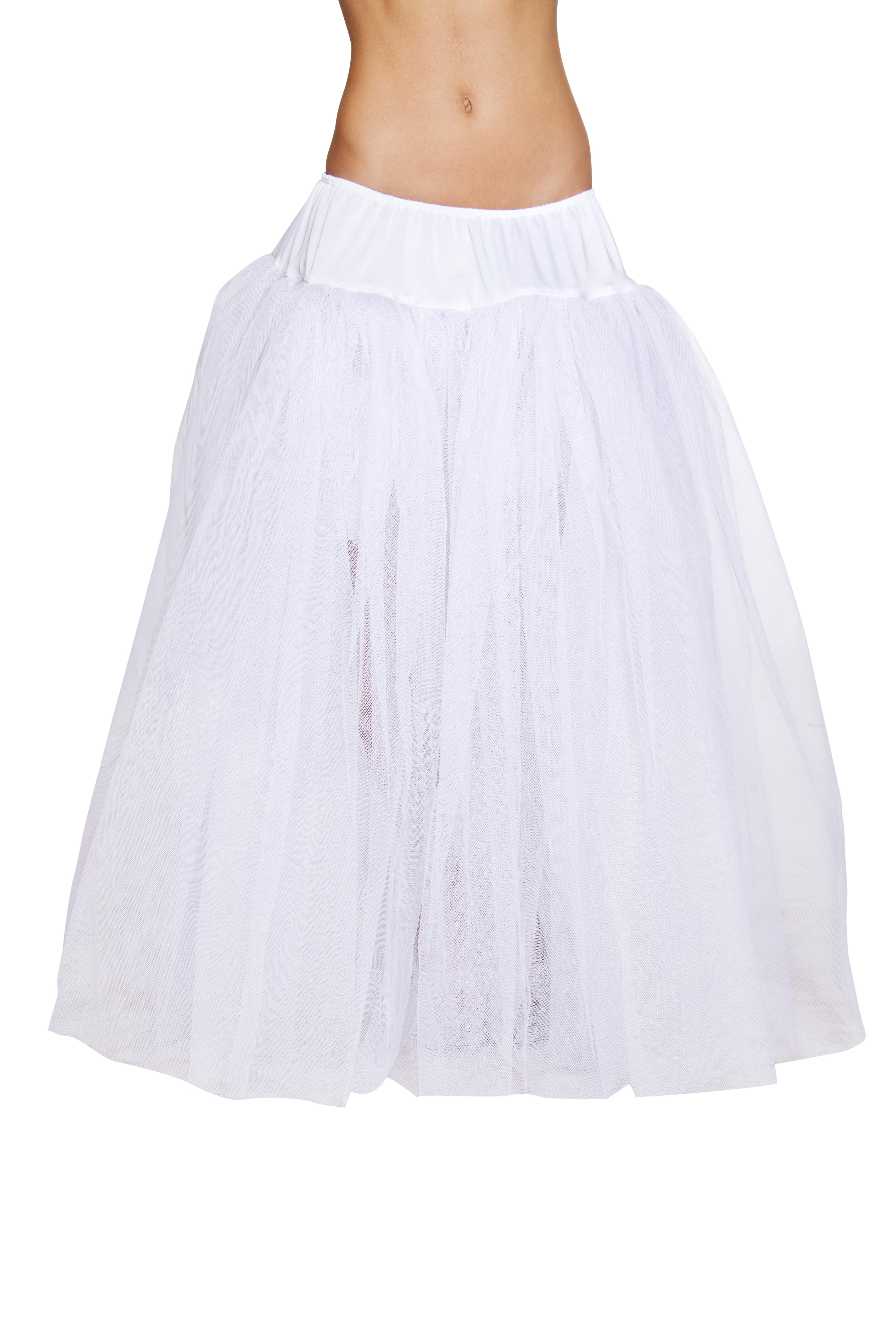 Full Length White Petticoat
