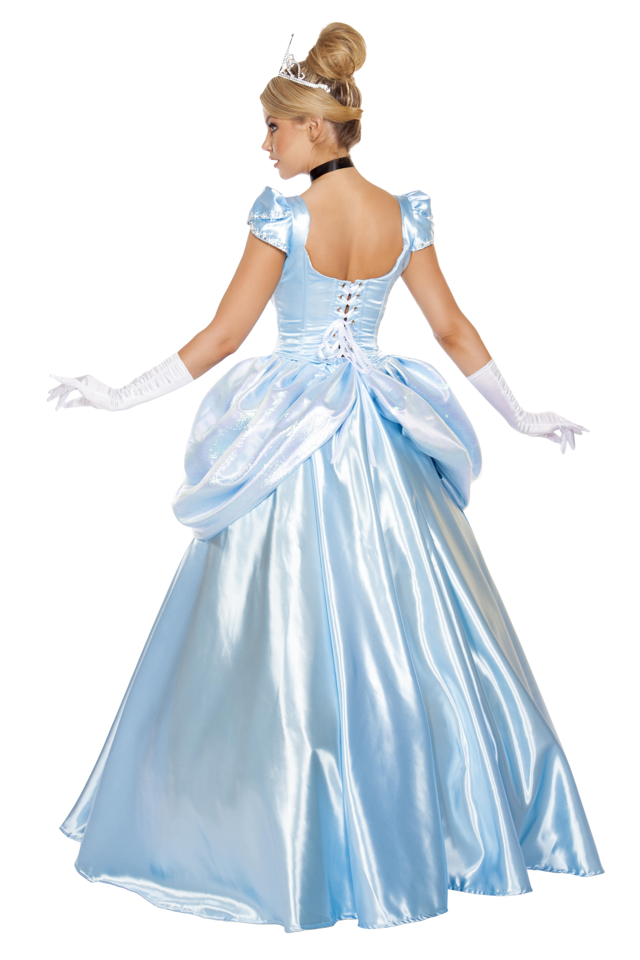 Stroke of Midnight Princess Gown Back