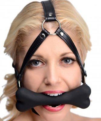 Bone Gag Head Harness With Model