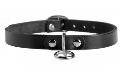 Leather Choker with O-Ring