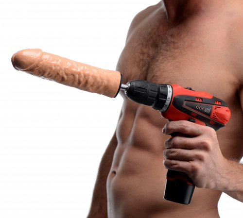 Power Spinner Dildo Drill With Model