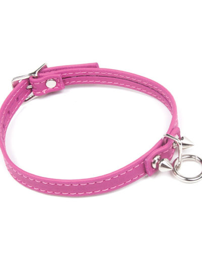 Spiked Pink Collar